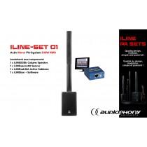 AUDIOPHONY iLINE PA-SET 1 Aktiv Mono PA-System 510W, DSP
