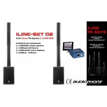 AUDIOPHONY iLINE PA-SET 2 Aktiv Stereo PA-System 2x510W, DSP