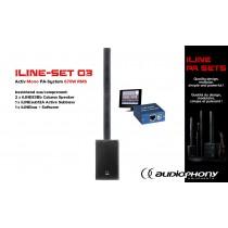 AUDIOPHONY iLINE PA-SET 3 Aktiv Mono PA-System 670W, DSP