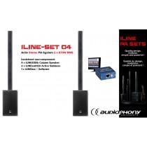 AUDIOPHONY iLINE PA-SET 4 Aktiv Stereo PA-System 2x670W, DSP