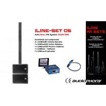 AUDIOPHONY iLINE PA-SET 5 Aktiv Mono PA-System 1020W, DSP