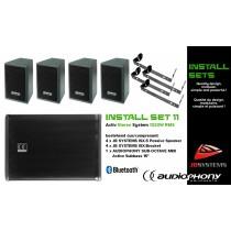 AUDIOPHONY/JB SYSTEMS INSTALL SET 11 Aktiv Stereo System 1320W, Bluetooth