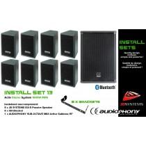 AUDIOPHONY/JB SYSTEMS INSTALL SET 13 Aktiv Stereo System 1600W, Bluetooth