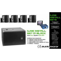 AUDIOPHONY iLINE INSTALL SET 1 BLACK Aktiv Mono System 510W, DSP