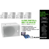 AUDIOPHONY iLINE INSTALL SET 1 WHITE Aktiv Mono System 510W, DSP