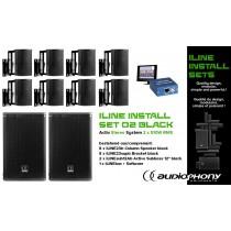 AUDIOPHONY iLINE INSTALL SET 2 BLACK Aktiv Stereo System 2x510W, DSP