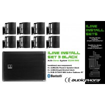 AUDIOPHONY iLINE INSTALL SET 3 BLACK Aktiv Stereo System 1320W, Bluetooth