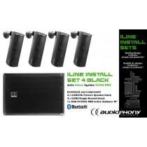 AUDIOPHONY iLINE INSTALL SET 4 BLACK Aktiv Stereo System 1320W, Bluetooth