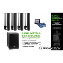 AUDIOPHONY iLINE INSTALL SET 5 BLACK Aktiv Mono System 1050W, DSP