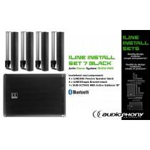 AUDIOPHONY iLINE INSTALL SET 7 BLACK Aktiv Stereo System 1500W, Bluetooth