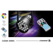 CONTEST irLED64-18x12SIXsb LED PAR-Scheinwerfer schwarz