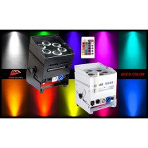 JB SYSTEMS ACCU COLOR - LED-Projektor 6 x 10W RGBWA
