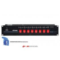 """JB SYSTEMS PC-8EU MKII 19"""" Stromverteiler mit EUROBUCHSEN"""