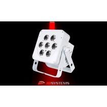 JB SYSTEMS LED-PLANO 7FC WHITE LED-Projektor 7 x 8W RGBW