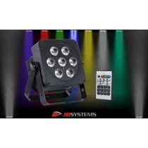 JB SYSTEMS LED-PLANO 6in1 LED-Projektor 7 x 12W RGBWA+UV