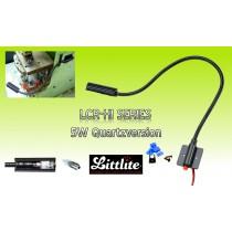 LITTLITE LCR-HI Serie Schwanenhalslampe mit Montagebasis und Ein/Aus-Schalter - 5W Quartzversion