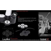 LuxyMod B4S Vierfachverteiler/Verbinder mit Einspeisekabel