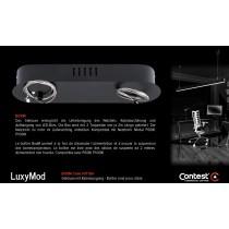 LuxyMod BoxM Gehäuse mit Abhängeseilen