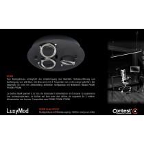 LuxyMod BoxR Rundgehäuse mit Abhängeseilen