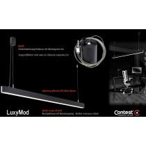 LuxyMod BoxS Deckenhalterung/Gehäuse mit Abhängeseil