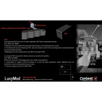 LuxyMod FIX1 Wandhalterung zu Spots