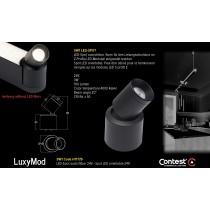LuxyMod SW1 LED-Spot schwenkbar - D-Profil - 3W - 24VAC