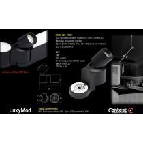 LuxyMod SW1Z LED-Spot schwenkbar - Z-Profil - 3W - 24VAC