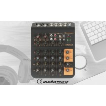 AUDIOPHONY Mi4U Audio-Mixer mit USB-Schnittstelle