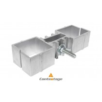 CONTESTAGE PLTS-FC2 Verbindungsklammer für zwei Standfüsse 6x6cm