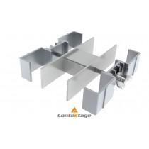 CONTESTAGE PLTS-FC4 Verbindungsklammer für vier Standfüsse 6x6cm