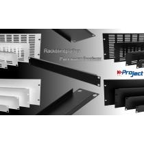 """PROJECT 19"""" ALU-Rackblindplatten - schwarz + silbergrau"""