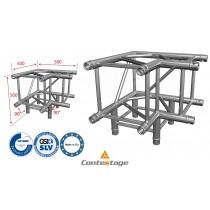 CONTESTAGE QUATRO-A02 heavy-duty Winkel 90°, 3 Directions, Farbe ALU