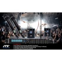 JTS R-4HMHSO SET 4-Kanal UHF-System mit 2 dynamischen Mikrofonen und 2 Headsets