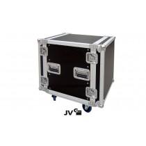 """JV RACK CASE 12U Flightcase 19"""" mit Rollen in Premium Qualität"""