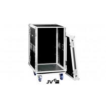 """JV RACK CASE 16U Flightcase 19"""" mit Rollen in Premium Qualität"""