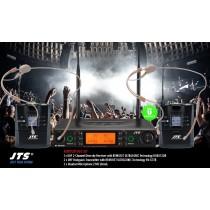 JTS RU8012-HSO SET 2-Kanal UHF-System mit 2 Headsets (Omni/Kugel)