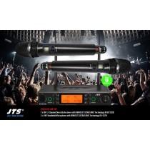 JTS RU8012-HM SET 2-Kanal UHF-System mit 2 Handmikrofonen (Direct/Niere)