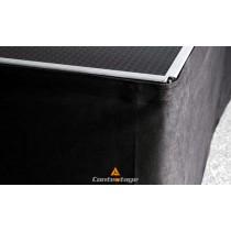 CONTESTAGE Podestschürzen/Skirts schwarz, Höhe 80cm zu Stage/Light-Serie