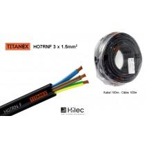 HILEC TIT-315 Netzkabel TITANEX® HO7RNF 3x1,5mm² - 100m