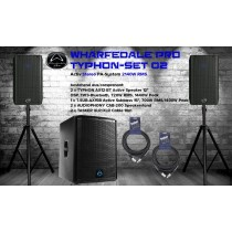 WHARFEDALE PRO TYPHON SET 2 Aktiv Stereo PA-System 2140W, DSP, Bluetooth