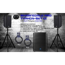 WHARFEDALE PRO TYPHON SET 1 Aktiv Stereo PA-System 2140W, DSP, Bluetooth