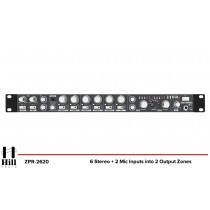 HILL AUDIO ZPR-2620 2-Zonen Stereo Mixer