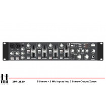 HILL AUDIO ZPR-2820 2-Zonen Stereo Mixer