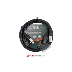 JB SYSTEMS DMX Combi/Hybridkabel IEC-Power/XLR 3-Pol