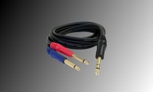 PROJECT Audiokabel 2 x Jack 6.3mm - 1 x Stereojack 6.3mm - 2m