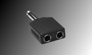 PROJECT Adapter 2 x Mono Jackbuchse 6.3mm - 1 x Mono Jack 6.3mm