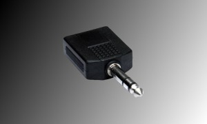 PROJECT Adapter 2 x Stereo Jackbuchse 6.3mm - 1 x Stereo Jackstecker 6.3mm