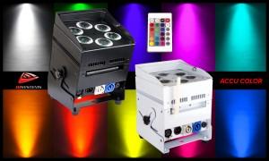 JB SYSTEMS ACCU COLOR - LED-Projektor 6 x 10W RGBWA