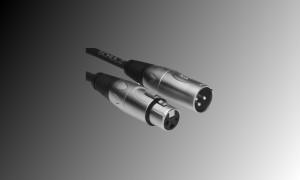 PROJECT Mikrofon- und Linienkabel XLR/F-XLR/M - Schwarz