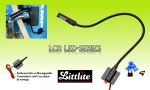 LITTLITE LCR-Serie LED-Schwanenhalslampe mit Montagebasis und Ein/Aus-Schalter